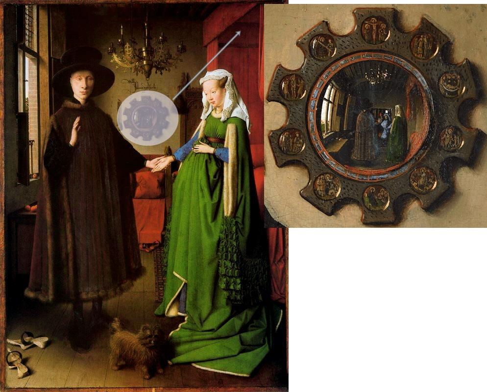 Jan van Eyck. El matrimonio Arnolfini, 1434.